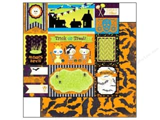 Bo Bunny Halloween Spook-tacular: Bo Bunny 12 x 12 in. Paper Fright Delight Collection Dingbats (25 pieces)