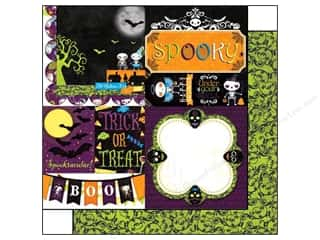 Bo Bunny 12 x 12 in. Paper Fright Delight Spooky (25 piece)