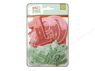 BasicGrey Die Cut 25th & Pine Numbers Jumbo