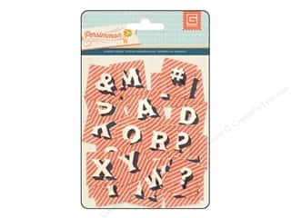 Holiday Sale: BasicGrey Die-Cut Acetate Alphabet Persimmon