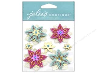 Jolee's Boutique Stickers Felted Holly Jolly Flowers