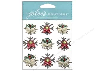 Jolee's Boutique Stickers Wooden Snowflakes