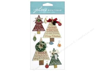 Hangers $4 - $6: Jolee's Boutique Stickers Holiday Word Trees