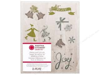 Martha Stewart Stamp Wood Set Frosty Elegance