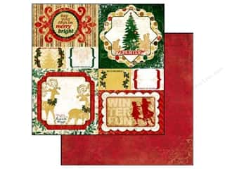 Bo Bunny 12 x 12 in. Paper Silver & Gold Red (25 piece)