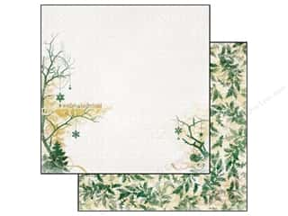 Winter Wonderland Printed Cardstock: Bo Bunny 12 x 12 in. Paper Silver & Gold Winter (25 piece)