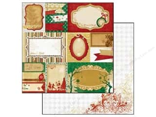 Clearance Burgundy: Bo Bunny 12 x 12 in. Paper Silver & Gold Collection Yuletide (25 pieces)