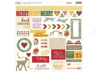 "Glitz Design Dimensional Stickers: Glitz Design Sticker Hello December 12""x 12"" Titles & Accents"