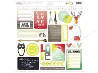 "Outdoors $12 - $20: Glitz Design Sticker Finnley 12""x 12"" Titles & Accents"