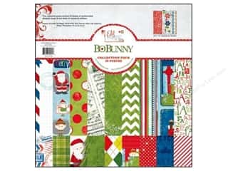 Clearance Bo Bunny Paper Collection Packs: Bo Bunny 12 x 12 in. Paper Collection Pack Elf Magic