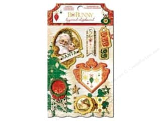 Bo Bunny Chipboard Stickers Layered Silver & Gold