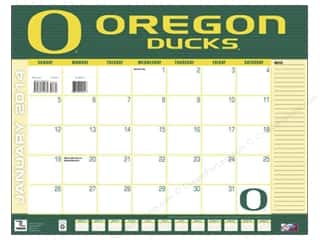Licensed Products Gifts & Giftwrap: 2014 Desk Calendar 22 x 17 in. Oregon Ducks