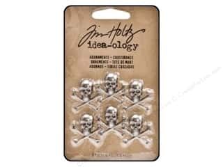 Charms and Pendants Halloween: Tim Holtz Idea-ology Adornments Crossbones