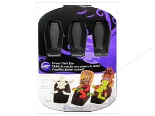 Halloween Baking Supplies: Wilton Bakeware Pan Coffin Dessert Shell 6 Cavity Non Stick