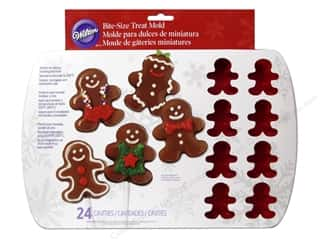 Wilton Molds Silicone Bite Size Gingerbread Boy