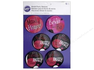Wedding & Bridal $5 - $8: Wilton Decorations Bridal Party Buttons 6pc