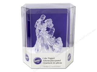 Cooking/Kitchen: Wilton Decorations Cake Topper Acrylic Clear Bianca