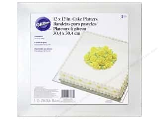 "Food $5 - $10: Wilton Decorations Cake Platter Square 12"" Silver 5pc"