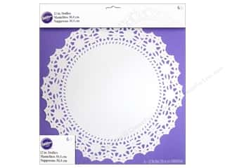 "Doily: Wilton Decorations Doilies 12"" Greaseproof White 6pc"