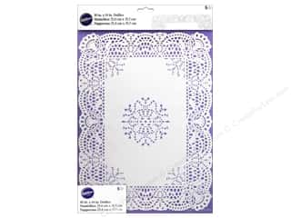 Wilton Decorations Doilies 10x14 Rect Greasprf Wht