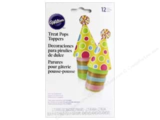 Cooking/Kitchen Party & Celebrations: Wilton Decorations Treat Pop Toppers Birthday Hat 12pc