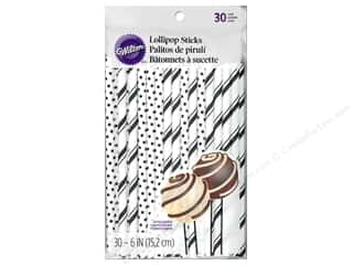 "Cooking/Kitchen Black: Wilton Decorations Lollipop Sticks 6"" Black 30pc"