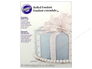 Wilton Edible Decorations Fondant Rolled 24oz Blue