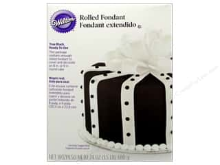 Wilton Edible Decorations Fondant Rolled 24oz Blk