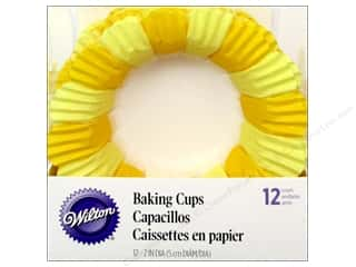 Baking Supplies New: Wilton Baking Cup Standard Blossom Cup Yellow 12pc