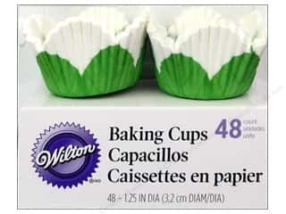 Wilton Baking Cup Mini Petal White 48pc