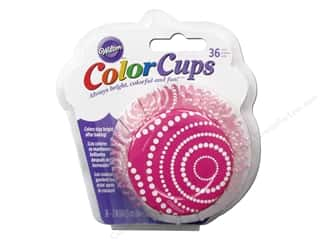 Wilton Baking Cup Colorcups Circle Dots Pink 36pc