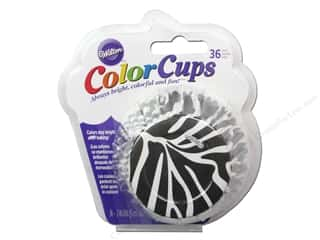 Baking Supplies Black: Wilton Baking Cup Colorcups 36 pc. Zebra