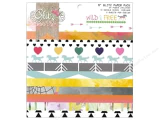 "Coredinations Designer Papers & Cardstock: Glitz Design Paper Pad Wild & Free 6""x 6"""