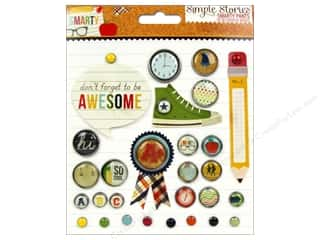 Clear Scraps Back To School: Simple Stories Decorative Brads Smarty Pants