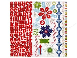 Scrapbooking & Paper Crafts Christmas: Bo Bunny Cardstock Stickers Elf Magic Combo