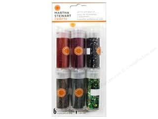Glitter Halloween: Martha Stewart Glitter Set Mini Gothic Manor 6pc
