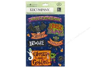 Halloween New: K&Company Stickers Tim Coffey Halloween Medley