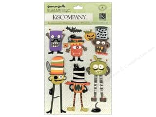 Halloween Spook-tacular paper dimensions: K&Company Grand Adhesions Carolyn Gavin Halloween Monster
