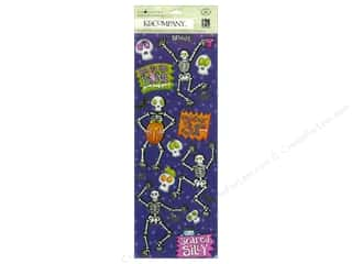 K & Company Chipboard: K&Company Adhesive Chipboard Tim Coffey Halloween Glow In Dark
