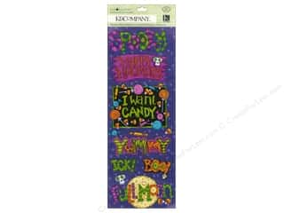Halloween Spook-tacular paper dimensions: K&Company Adhesive Chipboard Tim Coffey Halloween Word