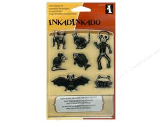 Inkadinkado InkadinkaClings Clear Stamp Inchies Little Skeletons