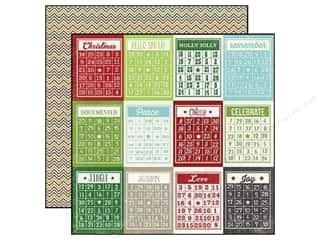 "Christmas ABC & 123: Simple Stories Paper 12""x 12"" December Documented Bingo/Chevron (25 pieces)"
