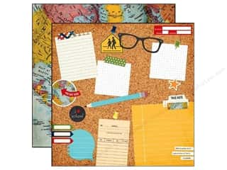 "Note Cards Vacations: Simple Stories Paper 12""x 12"" Smarty Pants 2 Cool 4 School (25 pieces)"