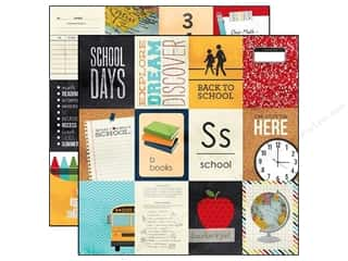 Simple Stories Back To School: Simple Stories Paper 12 x 12 in. Smarty Pants 3 x 4 in. Journaling Card Elements (25 pieces)
