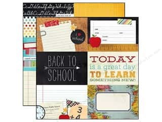 "Simple Stories Back To School: Simple Stories Paper 12""x 12"" Smarty Pants 4""x 6"" Horizontal Journaling Card Elements (25 pieces)"