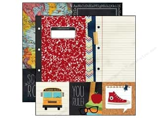 Simple Stories Paper 12 x 12 in. Smarty Pants Quote & Photo Mat (25 piece)