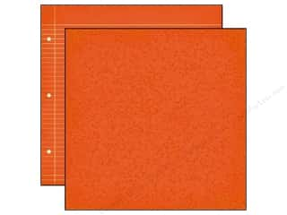 "Back To School Clearance Crafts: Simple Stories Paper 12""x 12"" Smarty Pants Orange Composition/ Notebook (25 pieces)"