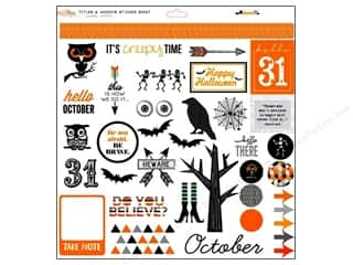 "Glitz Design Halloween: Glitz Design Sticker Raven 12""x 12"" Titles & Accents"