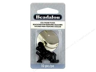 Beadalon scrimp: Beadalon Cell Phone Plug with Cup Black 10 pc.