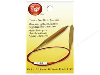 Needles / Hand Needles Boye Yarn Accessories: Boye Circular Needle ID Markers Large Size 8-17 24 pc.